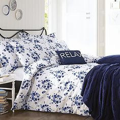 The Bianca Cotton Soft Sprig Print bedding range will brighten up any bedroom. Stunning blue sprigs of foilage melt like watercolours onto the luxurious 100% Pure Cotton fabric. Duvet set comprises of duvet cover and pillowcase(s), one with the single and two with the double, king and super king. #Kaleidoscope #Bedding #Homes #Homewares #HomeBloggers #InteriorDesign #Bedroom www.kaleidoscope.co.uk