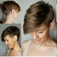 pin on hair your next adventure try a short pixie cut 50 s montego glover casual short straight pixie hairstyle … Undercut Hairstyles, Pixie Hairstyles, Cool Hairstyles, Undercut Pixie, Pixie Haircuts, Shaved Hairstyles, Hairstyle Ideas, Short Hair With Bangs, Short Hair Cuts