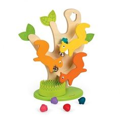 Toddlers will love the Nutty Ball Track Squirrel Tree Toddler Activity Toy for its bright colors, adorable animal characters and fun play features. The motor skills game features a large wooden tree with green felt leaves, 3 wooden squirrel cha Baby Toys, Kids Toys, Toddler Toys, Baby Baby, Toy Trees, Childhood Games, Early Childhood, Felt Leaves, Craft Kits For Kids