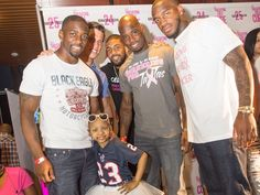 Kareem Jackson, Brian Cushing, Arian Foster, Jonathan Joseph, Kyssi at the Tailgating for the Cure