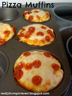 Cupcake molded pizza's. for the boys lunches.