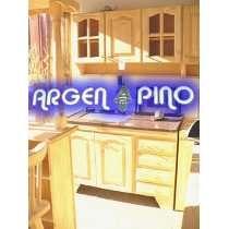 Argen Pino Combo 1,60 Alacena + Bajo Mesada Fabrica De Pino