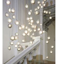 76 Bocci Suspension Bocci Lighting, Pendant Lighting, Interior Exterior, Transparent, Stairways, My Dream Home, Sweet Home, New Homes, Ceiling Lights