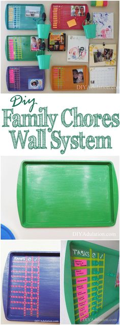 Get back into the structured rhythm of back to school with this DIY family chores wall system! It is the perfect solution for busy families.
