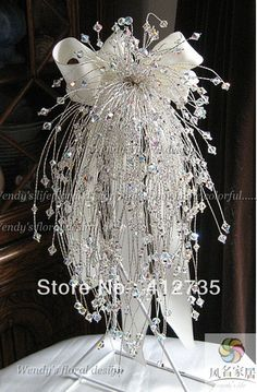 EMS Free Shipping,European popular crystal beadwork bride hand flowers/wedding bouquet/Photography Props