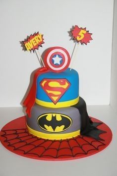Pastel de Super Heroes #CupcakesbyMJ #ÚnicosyDeliciosos