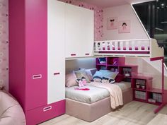 Bed For Girls Room, Girl Room, Girls Bedroom, Bedroom Storage For Small Rooms, Barbie Bedroom, Kids Bedroom Furniture, Modern Furniture, Kids Bedroom Designs, Stylish Bedroom