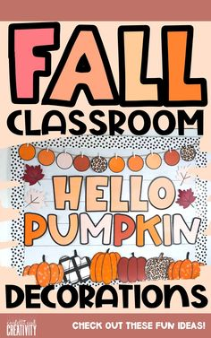 Get ready to decorate your classroom for Fall with these inspiring ideas! Find Fall classroom decor ideas for your bulletin board, slide templates, classroom door, and so much more! Check it out!