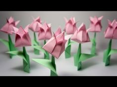 We LOVE Origami for Kids and it isn't as hard as it looks. You just have to select the right Easy Origami for Kids projects and off you go. Origami Tutorial, Tulip Origami, Origami Leaves, Easy Origami Flower, Origami Lily, Origami Modular, Instruções Origami, Origami Wedding, Origami And Kirigami