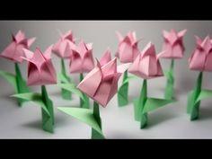 Flores de origami passo a passo para dia das mães!