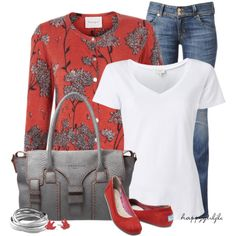 """MY STAPLE ITEM: A White T-Shirt"" by happygirljlc on Polyvore"