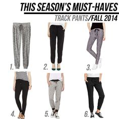 jillgg's good life (for less) | a style blog: fall must haves 2014: track pants!