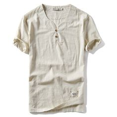 Beloved Men Summer Linen Cotton Short Sleeve Button Down Shirt and Shorts Sets
