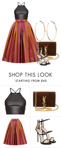 """""""Untitled #607"""" by arianasinger ❤ liked on Polyvore featuring Yves Saint Laurent, House of Holland, Giuseppe Zanotti and Jennifer Fisher"""