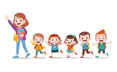 Find Happy Teacher School Kid Vector Illustration stock images in HD and millions of other royalty-free stock photos, illustrations and vectors in the Shutterstock collection. Drawing For Kids, Art For Kids, Learn Animation, Kids Background, Kids Vector, Preschool Learning Activities, Coloring Book Pages, Cute Kids, Kids Girls