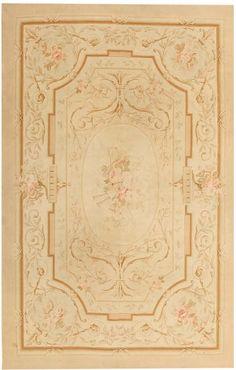 Antique Aubusson Carpet #43630   http://nazmiyalantiquerugs.com/antique-rugs/aubusson/