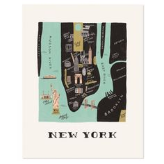 Rifle paper & co – Design Anna-Bond – New York … - Grafik Design Anna Bond, Map Of New York, New York City, Carte New York, Deco New York, New York Tipps, Manhattan Map, Ville New York, Bucket List Travel