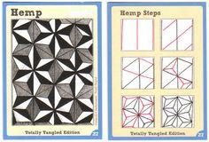 Tangle Card Challenge #5 - Hemp (And #6!)