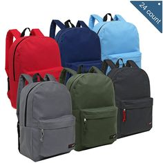 Wholesale Backpacks for Kids - Bulk Case of 24 MGgear Assorted Color Book Bags -- Want additional info? Click on the image. (This is an Amazon Affiliate link and I receive a commission for the sales)
