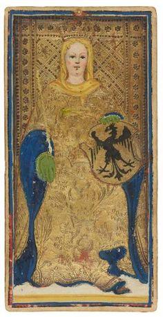 The Empress  | Visconti-Sforza Tarot Cards | 1450-1480 | Morgan Library & Museum | Museum #: MS M.630 (no. 1)