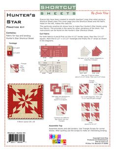 Shortcut Sheets - Kits by Carla, Monkton VT Quilt Square Patterns, Quilt Block Patterns, Pattern Blocks, Square Quilt, Quilting Blogs, Quilting Tutorials, Quilting Projects, Modern Quilting, Quilting Designs