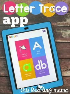 Letter Trace App - Strokes for Uppercase Letters, Lowercase Letters, and Letter Reversals ~ This Reading Mama Alphabet Tracing, Alphabet Crafts, Alphabet Activities, Hands On Activities, Alphabet Letters, Preschool Letters, Preschool Worksheets, Letter Of The Week, Education