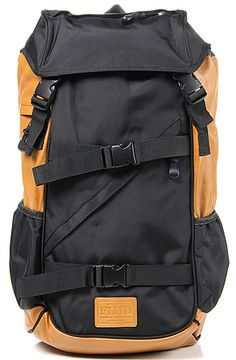 Flud Watches Bag Tech Backpack in Black and Tan