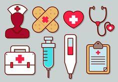 Enfermera vector icono conjunto Medical Symbols, Medical Art, Medical Icon, Medical Wallpaper, Nurse Art, Medical Background, Nurses Day, Medical Design, Medical Illustration