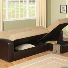 sectional sleeper sofa design sets: stunning lakeland sectional sleeper sofa bed with storage Small Sectional Couch, Small Couch, Sectional Sleeper Sofa, Sofa Couch, Sofa Set, Diy Couch, Sofa Pillows, Diy Storage Ottoman, Sofa Bed With Storage