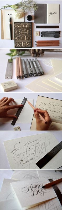 a pair & a spare : Lettering tutorial