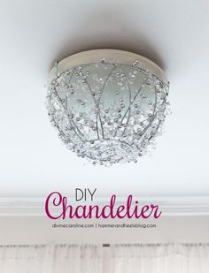 Update your old light fixture with this pretty (and easy!) DIY chandelier. It adds a dose of glam to any room, without any rewiring required.