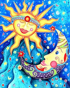 moon and sun art - Google Search