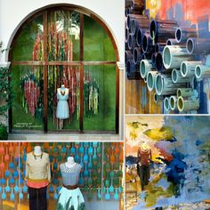 A Marmie Life: Paint & Color Window Display Inspiration