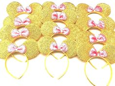 Minnie Mouse Ears Mickey Mouse Ears Minnie Mouse Sparkly Ears Disney Ears Minnie Ears Pink Headband Mickey Ears by DreamsareMagic on Etsy Minnie Mouse Headband, Diy Disney Ears, Disney Headbands, Mickey Mouse Ears Headband, Minnie Mouse Pink, Mickey Minnie Mouse, Mickey Ears, Gold Headbands, Disney Gift