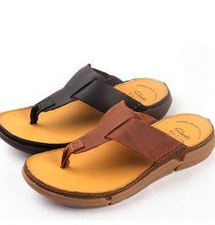 Verano 2016 Europa y América antideslizante zapatillas de piel de vaca zapatos de los hombres de cuero fresco Chanclas