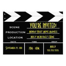 hollywood ticket invitations party stuff pinterest vip pass