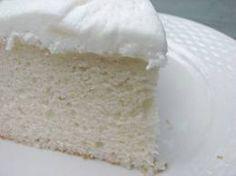 Moist Fluffy White Cake Recipe