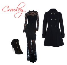 """""""Supernatural genderbent Crowley!"""" by blaze-winchester ❤ liked on Polyvore featuring Miss Selfridge and Giuseppe Zanotti"""