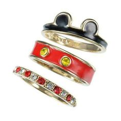 Set of 3 rings of Mickey mouse | Disney Style | Mouse | @dgiiirls