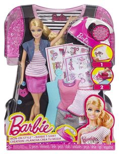 Barbie Iron On Style Feature Barbie Doll Girls Toys Gift - BNIB Brand New BDB32