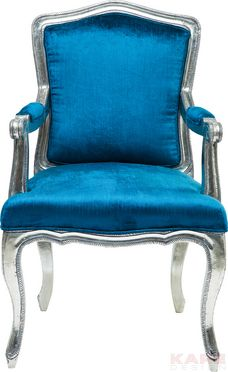 Chair with Armrest Regency Blue