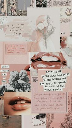 pretty baby pink grey aesthetic mood board background wallpaper