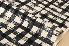 Japanese Fabric Kokka Gingham  black  50cm