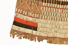 Beaded Leather SkirtA young woman's  initiation  skirt from the Iraqw peoples of Tanzania.  This is a ritual transition garment marking the changes in life after coming of age. Decorative Beads, Cultural Identity, Coming Of Age, Ethnic Fashion, Tanzania, Glass Beads, Leather Skirt, Weaving