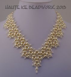 Simply Beautiful bridal necklace by Marsha Wiest-Hines at Haute Ice Beadwork: 2013 GALLERY