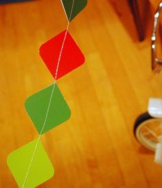 Paint Chip Garland · Recycled Crafts | CraftGossip.com