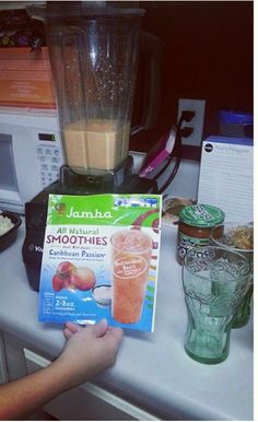 @JambaAtHomeSmoothie I received the Jamba At Home Smoothies smoothie voucher for free from Influenster for testing and reviewing purposes. I chose the Caribbean Passion blend and made two delicious smoothies with my very good friend Kat Hambor. It was very easy to make and only required a cup of apple juice to be blended with the contents of the bag. The mango, passion fruit, peach and strawberry flavors melded very well together to create an absolutely delicious smoothie. #jambajuice…