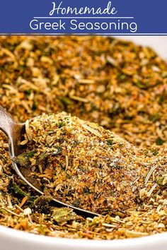 Authentic Greek Seasoning Recipe - An Easy Homemade Spice Blend! - This homemade Greek seasoning recipe is ready in minutes with simple pantry spices. Homemade Spice Blends, Homemade Spices, Homemade Seasonings, Spice Mixes, Homemade Recipe, Authentic Greek Seasoning Recipe, Authentic Greek Recipes, Greek Spices, Greek Cooking
