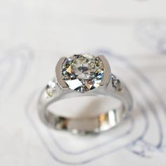 custom diamond ring by J ALBRECHT DESIGNS