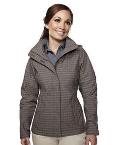 Women's Mini Plaid Rain Resistant Jacket (75% Nylon 25% Polyester) 8023 Inverness  #RainResistant  #Jacket #Polyester